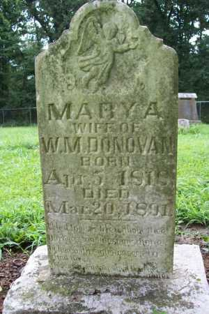 DONOVAN, MARY A. - Benton County, Arkansas | MARY A. DONOVAN - Arkansas Gravestone Photos