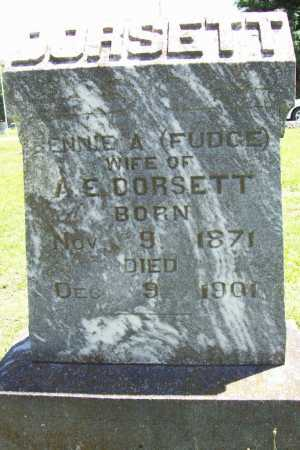 "FUDGE DORSETT, BENJAMINA ANN ""BENNIE"" - Benton County, Arkansas 