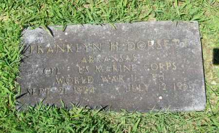 DORSETT (VETERAN WWII), FRANKLYN H. - Benton County, Arkansas | FRANKLYN H. DORSETT (VETERAN WWII) - Arkansas Gravestone Photos