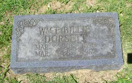 DORSETT, WM. F. (BILLIE) - Benton County, Arkansas | WM. F. (BILLIE) DORSETT - Arkansas Gravestone Photos