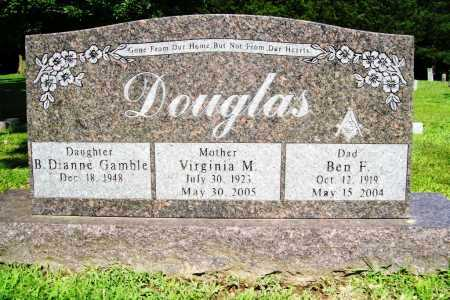DOUGLAS, BEN F. - Benton County, Arkansas | BEN F. DOUGLAS - Arkansas Gravestone Photos