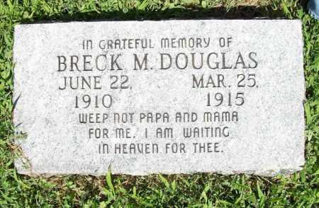 DOUGLAS, BRECK M. - Benton County, Arkansas | BRECK M. DOUGLAS - Arkansas Gravestone Photos