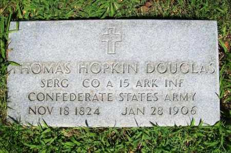 DOUGLAS (VETERAN CSA), THOMAS HOPKIN - Benton County, Arkansas | THOMAS HOPKIN DOUGLAS (VETERAN CSA) - Arkansas Gravestone Photos
