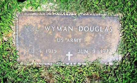 DOUGLAS (VETERAN), VOL WYMAN - Benton County, Arkansas | VOL WYMAN DOUGLAS (VETERAN) - Arkansas Gravestone Photos