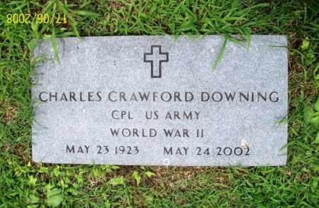 DOWNING (VETERAN WWII), CHARLES CRAWFORD - Benton County, Arkansas | CHARLES CRAWFORD DOWNING (VETERAN WWII) - Arkansas Gravestone Photos