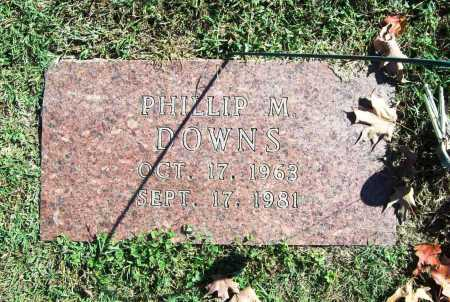 DOWNS, PHILLIP M. - Benton County, Arkansas | PHILLIP M. DOWNS - Arkansas Gravestone Photos