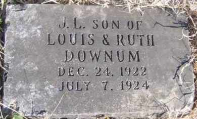 DOWNUM, J. L. - Benton County, Arkansas | J. L. DOWNUM - Arkansas Gravestone Photos