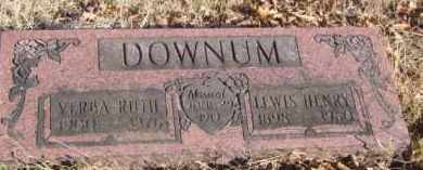 DOWNUM, VERBA RUTH - Benton County, Arkansas | VERBA RUTH DOWNUM - Arkansas Gravestone Photos
