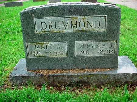DRUMMOND, JAMES A. - Benton County, Arkansas | JAMES A. DRUMMOND - Arkansas Gravestone Photos