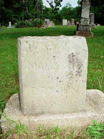 DRYDEN, MALISSA H. - Benton County, Arkansas | MALISSA H. DRYDEN - Arkansas Gravestone Photos