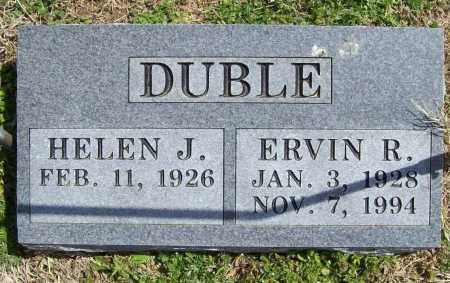 DUBLE, ERVIN R. - Benton County, Arkansas | ERVIN R. DUBLE - Arkansas Gravestone Photos