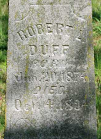 DUFF, ROBERT L. (CLOSEUP) - Benton County, Arkansas | ROBERT L. (CLOSEUP) DUFF - Arkansas Gravestone Photos