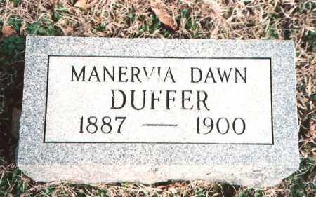 DUFFER, MANERVIA DAWN - Benton County, Arkansas | MANERVIA DAWN DUFFER - Arkansas Gravestone Photos
