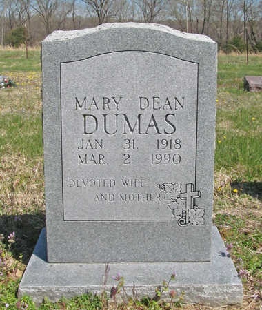 DEAN DUMAS, MARY - Benton County, Arkansas | MARY DEAN DUMAS - Arkansas Gravestone Photos