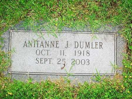 DUMLER, ANITANNE J. - Benton County, Arkansas | ANITANNE J. DUMLER - Arkansas Gravestone Photos