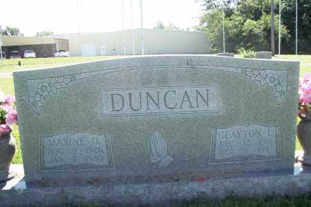 DUNCAN, MAXINE O. - Benton County, Arkansas | MAXINE O. DUNCAN - Arkansas Gravestone Photos