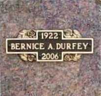 DURFEY, BERNICE ALMA - Benton County, Arkansas | BERNICE ALMA DURFEY - Arkansas Gravestone Photos