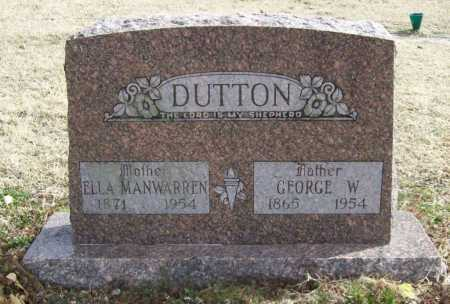 DUTTON, GEORGE W. - Benton County, Arkansas | GEORGE W. DUTTON - Arkansas Gravestone Photos