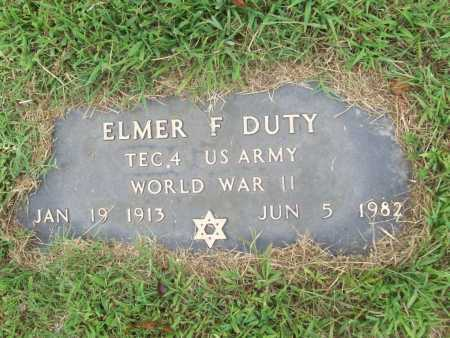 DUTY (VETERAN WWII), ELMER F. - Benton County, Arkansas | ELMER F. DUTY (VETERAN WWII) - Arkansas Gravestone Photos
