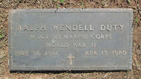 DUTY (VETERAN WWII), RALPH WENDELL - Benton County, Arkansas | RALPH WENDELL DUTY (VETERAN WWII) - Arkansas Gravestone Photos