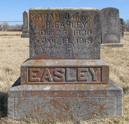 JONES EASLEY, SARAH JANE - Benton County, Arkansas | SARAH JANE JONES EASLEY - Arkansas Gravestone Photos