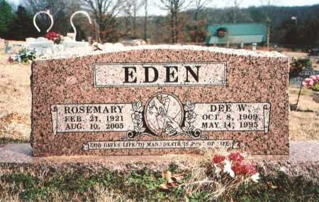 EDEN, DEE W. - Benton County, Arkansas | DEE W. EDEN - Arkansas Gravestone Photos