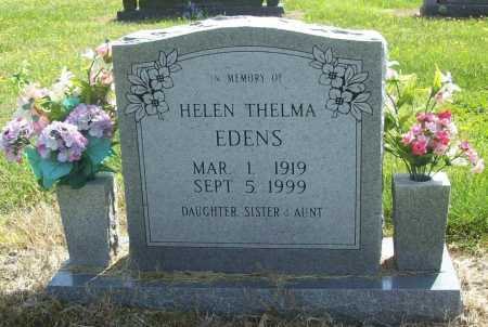 EDENS, HELEN THELMA - Benton County, Arkansas | HELEN THELMA EDENS - Arkansas Gravestone Photos
