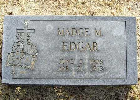 EDGAR, MADGE M. - Benton County, Arkansas | MADGE M. EDGAR - Arkansas Gravestone Photos