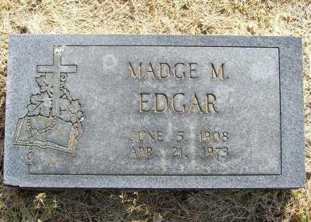 NUNN EDGAR, MADGE M. - Benton County, Arkansas | MADGE M. NUNN EDGAR - Arkansas Gravestone Photos
