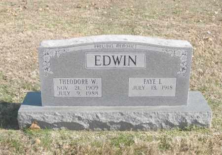 EDWIN, THEODORE W. - Benton County, Arkansas | THEODORE W. EDWIN - Arkansas Gravestone Photos