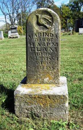 ELAM, MARINDA - Benton County, Arkansas | MARINDA ELAM - Arkansas Gravestone Photos