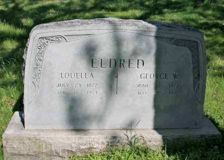 ELDRED, GEORGE W. - Benton County, Arkansas | GEORGE W. ELDRED - Arkansas Gravestone Photos