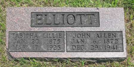 ELLIOTT, JOHN ALLEN - Benton County, Arkansas | JOHN ALLEN ELLIOTT - Arkansas Gravestone Photos