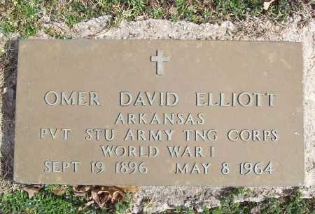 ELLIOTT (VETERAN WWI), OMER DAVID - Benton County, Arkansas | OMER DAVID ELLIOTT (VETERAN WWI) - Arkansas Gravestone Photos