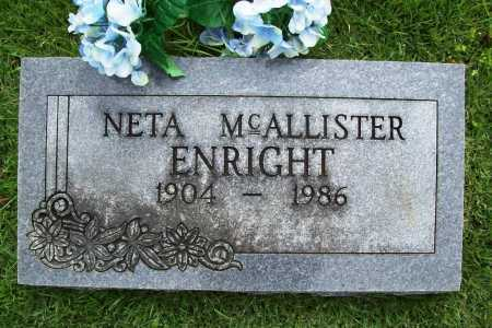 ENRIGHT, NETA - Benton County, Arkansas | NETA ENRIGHT - Arkansas Gravestone Photos