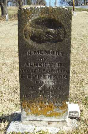 EPPERSON, ALBERT D - Benton County, Arkansas | ALBERT D EPPERSON - Arkansas Gravestone Photos