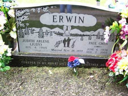 ERWIN, PAUL GWEN - Benton County, Arkansas | PAUL GWEN ERWIN - Arkansas Gravestone Photos