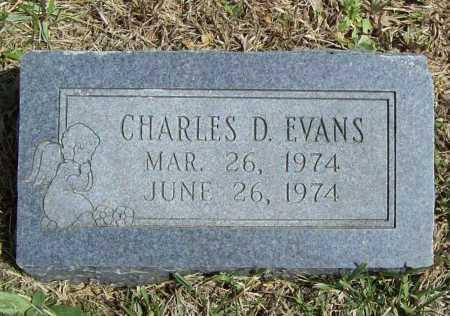 EVANS, CHARLES D. - Benton County, Arkansas | CHARLES D. EVANS - Arkansas Gravestone Photos