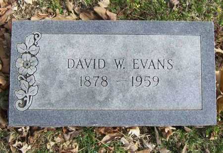 EVANS, DAVID W. - Benton County, Arkansas | DAVID W. EVANS - Arkansas Gravestone Photos