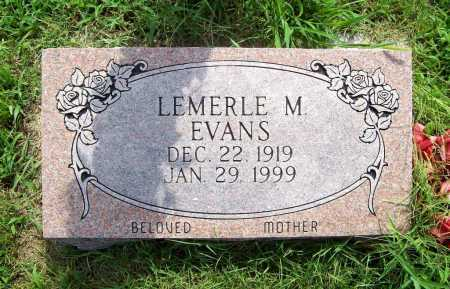 EVANS, LEMERLE M. - Benton County, Arkansas | LEMERLE M. EVANS - Arkansas Gravestone Photos
