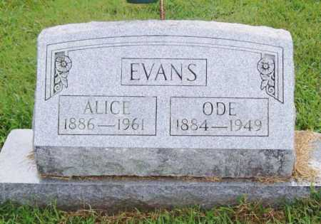EVANS, ODE - Benton County, Arkansas | ODE EVANS - Arkansas Gravestone Photos