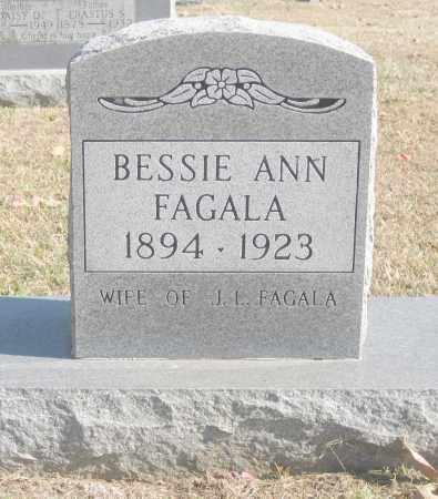 MCDANIEL FAGALA, BESSIE ANN - Benton County, Arkansas | BESSIE ANN MCDANIEL FAGALA - Arkansas Gravestone Photos