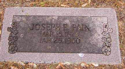 FAIN, JOSEPH E. - Benton County, Arkansas | JOSEPH E. FAIN - Arkansas Gravestone Photos