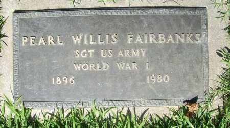 FAIRBANKS (VETERAN WWI), PEARL WILLIS - Benton County, Arkansas | PEARL WILLIS FAIRBANKS (VETERAN WWI) - Arkansas Gravestone Photos