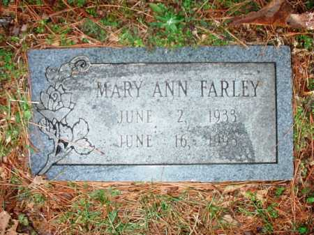 FARLEY, MARY ANN - Benton County, Arkansas | MARY ANN FARLEY - Arkansas Gravestone Photos