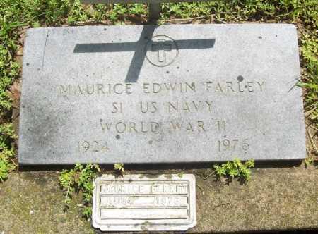 FARLEY (VETERAN WWII), MAURICE EDWIN - Benton County, Arkansas | MAURICE EDWIN FARLEY (VETERAN WWII) - Arkansas Gravestone Photos