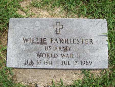 FARRIESTER (VETERAN WWII), WILLIE - Benton County, Arkansas | WILLIE FARRIESTER (VETERAN WWII) - Arkansas Gravestone Photos