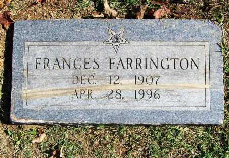 FARRINGTON, FRANCES - Benton County, Arkansas | FRANCES FARRINGTON - Arkansas Gravestone Photos