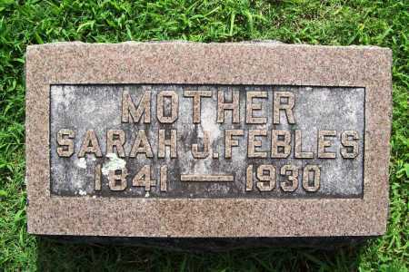 FEBLES, SARAH J. - Benton County, Arkansas | SARAH J. FEBLES - Arkansas Gravestone Photos