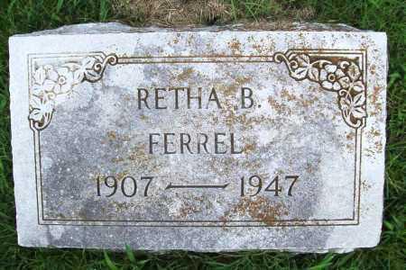 FERREL, RETHA B. - Benton County, Arkansas | RETHA B. FERREL - Arkansas Gravestone Photos